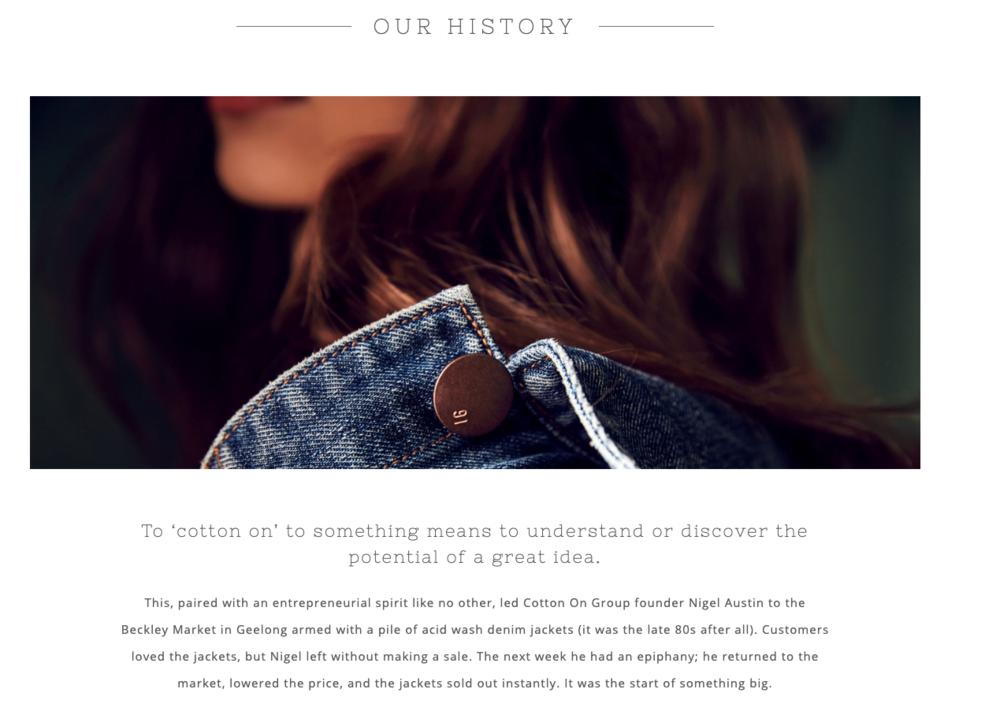 Cotton on history