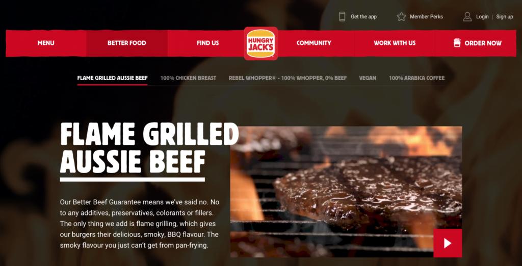 Hungry Jacks Better Beef Guarantee